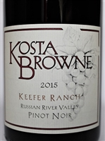 750 ml bottle of Kosta Browne Pinot Noir from the Keefer Ranch Vineyard in the Green Valley AVA of the Russian River Valley in Sonoma California