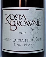 750ml bottle of 2015 Kosta Browne Pinot Noir from the Santa Lucia Highlands AVA of Monterey County California