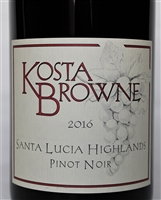 750ml bottle of 2016 Kosta Browne Pinot Noir from the Santa Lucia Highlands AVA of Monterey County California