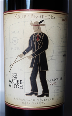 750ml bottle of 2013 vintage Krupp Brothers winery Water Witch red blend from Napa Valley California USA