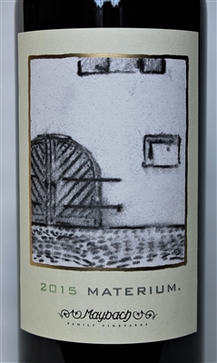 750ml bottle of 2015 Maybach Materium Cabernet Sauvginon from the Weitz Vineyard in the Oakville AVA of Napa Valley California 750ml