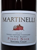 750 ml bottle of Martinelli Family Pinot Noir red wine from the Three Sisters Vineyard on the Sonoma Coast of Sonoma County California