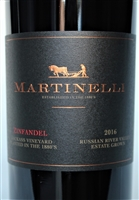 750ml bottle of 2016 Martinelli Jackass Vineyard Zinfandel red wine from Sonoma California