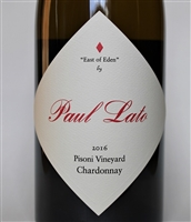 750ml bottle of 2016 Paul Lato East of Eden Chardonnay from the Pisoni Vineyard in the Santa Lucia Highlands AVA of Monterey County California