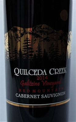 750 ml bottle of 2014 Quilceda Creek Galitzine Vineyard Cabernet Sauvignon from the Red Mountain AVA of Washington State