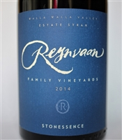 750ml bottle of 2014 Reynvaan Stonessence Esate Syrah from the Walla Walla Valley of Washington state