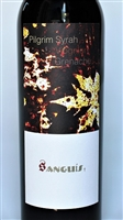 750ml bottle of 2013 Sanguis Pilgrim Syrah-Viognier-Grenache a red wine from the Central Coast of Santa Barbara County California