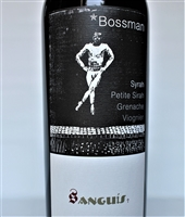 750ml bottle of 2015 Sanguis Bossman a red wine from the Central Coast of Santa Barbara County California