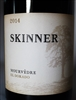 750 ml bottle of 2014 Skinner Vineyards Mourvedre red wine from the El Dorado AVA in the Sierra Foothills of Amador County California