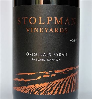 750ml bottle of 2014 Stolpman Estate Grown Originals Syrah from the Ballard Canyon AVA of Santa Barbara County California