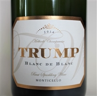 750ml bottle of 2014 Trump Winery Blanc de Blancs Brut Methode Champenoise sparkling wine