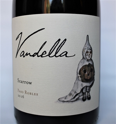 750ml bottle of 2016 Vandella Scarrow red blend from Paso Robles California