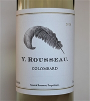750ml bottle of 2018 Y. Rousseau Colombard white wine from Solano County California