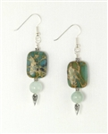 Made in Kauai, Aqua Terra Treasure Earrings I Aqua Terra Jasper, African Jade, Sterling Silver