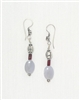 Made In Kauai, Blue Lace Symphony Earrings by Thresh, Blue Lace Agate, Garnet, Sterling Silver
