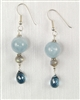 Made On Kauai Island By Thresh, Beautiful Waters Earrings II, Aquamarine, Blue Topaz, Labradorite, Sterling Silver