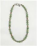 Made In Kauai, Aqua Terra Necklace Composed Of Aqua Terra Jasper Gems, Chocolate Pearls, Sterling Silver