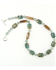 Made In Kauai Aqua Terra Treasure Necklace I Aqua Terra Jasper, African Jade, Rum Rum Hardwood, Sterling Silver