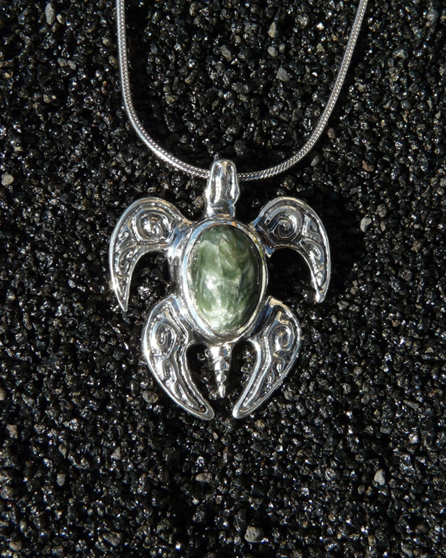 Made in hawaii sea turtle spirit honu small pendant green alternative views aloadofball Images