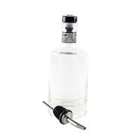 Jewel Top Oil & Vinegar Bottle Clear Glass includes a crystal stopper and also a pourer with greek key pattern