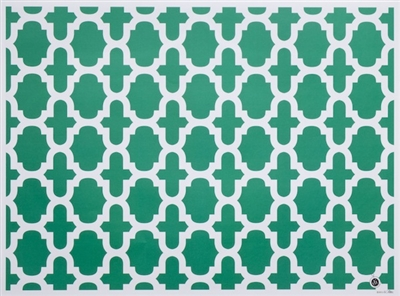 Nantucket Placemats in oasis green emerald green poppy red navy blue yellow black white