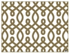 Vienna Placemats by di Potter silver gold two sided reversible recyclable made of paper modern scroll pattern