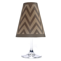 Chevron Red Wine Glass Shades Party Pack Paper Translucent Vellum Brown Teal Morocco and Zig zag pattern Black