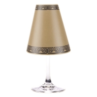 Modern geometric greek key pattern paper white wine glass shades