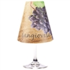 Sangiovese Red Wine Glass Shades Party Pack by di Potter wood background purple olive green wine tasting pattern wine glass flameless tea light