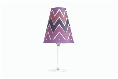 Ikat Red Wine Glass Shades Set of 6 by di Potter in orchid purple pink and orange vellum paper use with a wine glass and flameless tea light