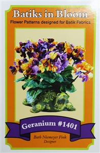 Batiks in Bloom ~ Geranium #1401