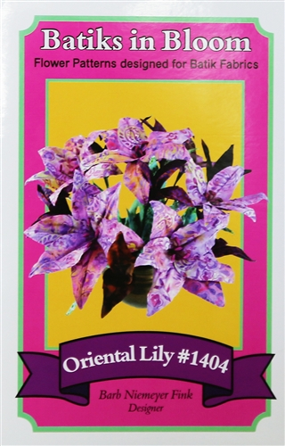 Batiks in Bloom ~ Oriental Lily #1404