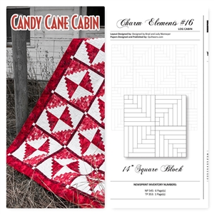 Cut Loose Press Candy Cane Cabin and Charm Elements Pack #16