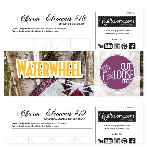 Cut Loose Press Waterwheel and Charm Elements Pack #18 and #19