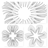 Petals Placemats Quiting Pattern - Set of 3