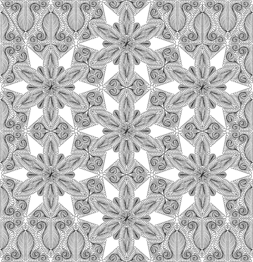 Wedding Star Quilting Pattern