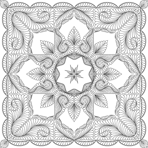 Frozen Fountain Quilting Pattern