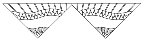 MSM Princess Tiara Border Spike Feathers