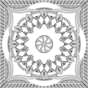 Dinner Plate Dahlia Wall Quilting Pattern
