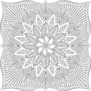 Dinner Plate Dahlia Center Quilting Pattern