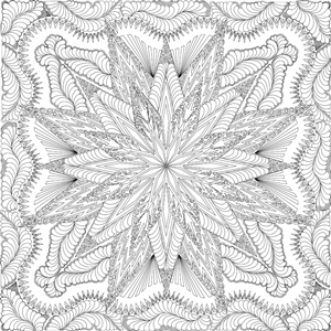 Lumina Feathered Star Quilting Pattern