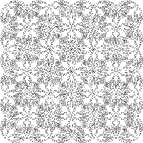Bali Wedding Star Quilting Pattern