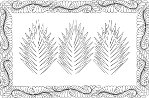 Three ~ Quiltworx.com Leaf Series Quilting Pattern
