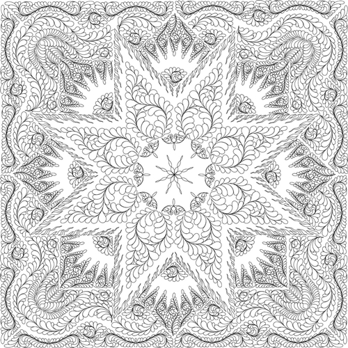 Glacier Star Quilting Pattern