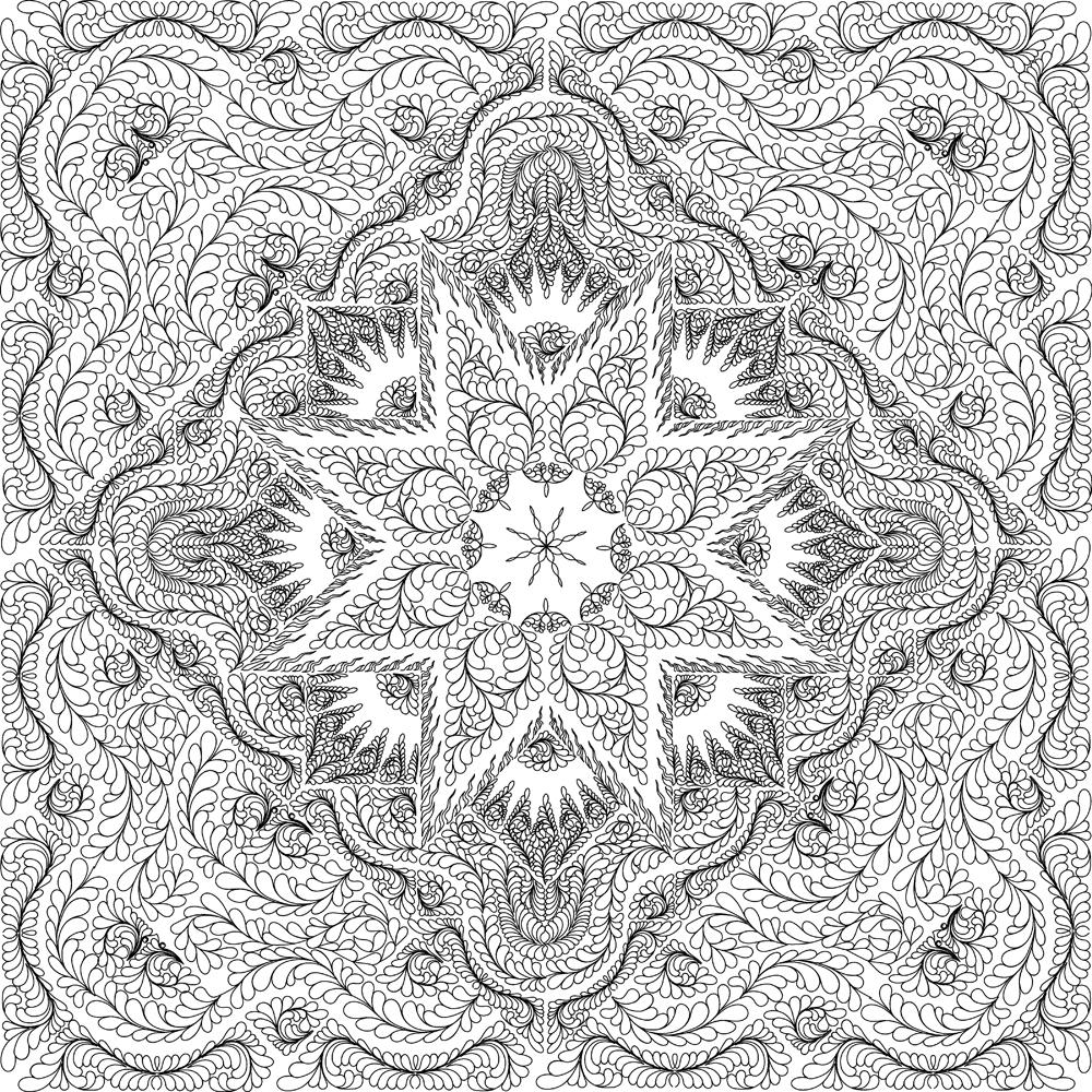 Glacier Star Queen Quilting Pattern