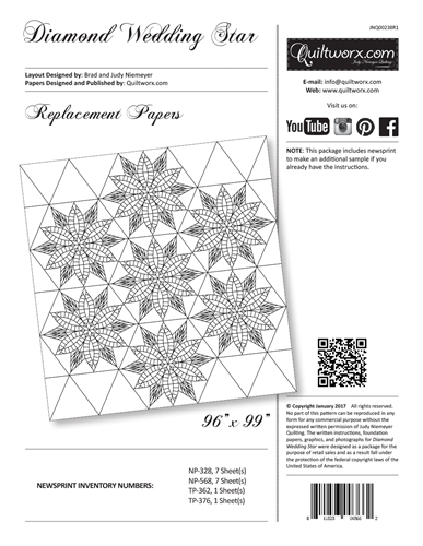 Diamond Wedding Star Replacement Papers