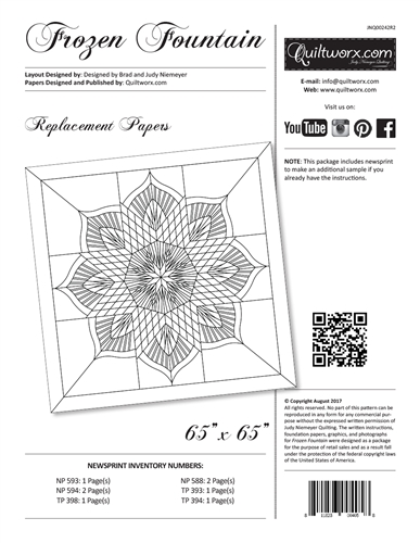 Frozen Fountain Replacement Papers
