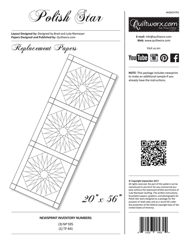 Polish Star Table Runner Replacement Papers