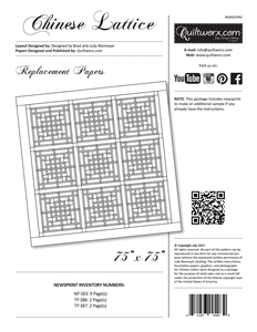 Chinese Lattice Replacement Papers