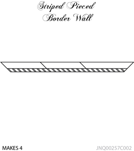 JNQ00257C002 Striped Pieced Border Wall